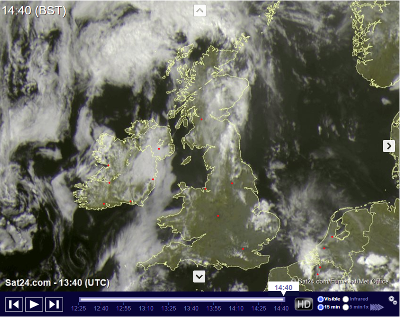 Tuesday 11th August 2020 – Thunderstorm Chances