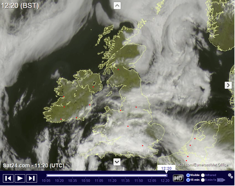 Saturday 24th July 2021 – Thundery Downpour Chances